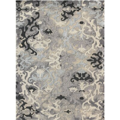 Averi Hand-Tufted Gray Area Rug Rug Size: 76 x 96