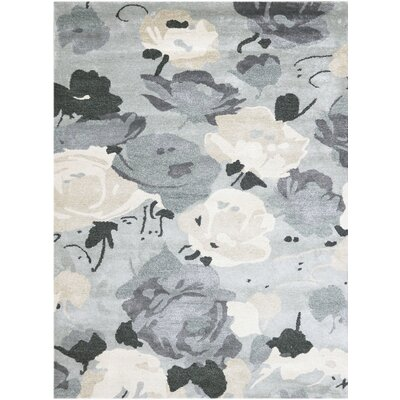 Piland Hand-Tufted Gray Area Rug Rug Size: 5 x 76