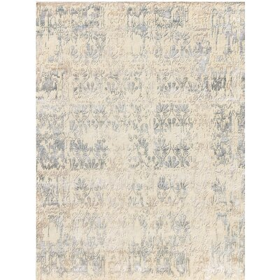 Synergy Hand-Knotted Beige/Gray Area Rug Rug Size: 8 x 10