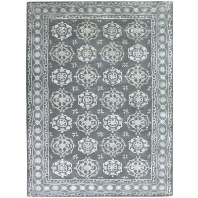Urban Hand-Tufted Blue Area Rug Rug Size: 7'6