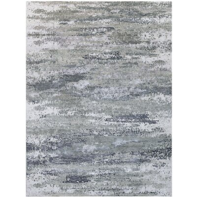 Blanchard Hand-Tufted Gray Area Rug Rug Size: Rectangle 8 x 10
