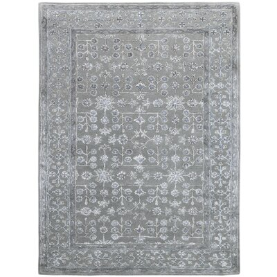 Zaida Hand-Tufted Gray Area Rug Rug Size: 7'6