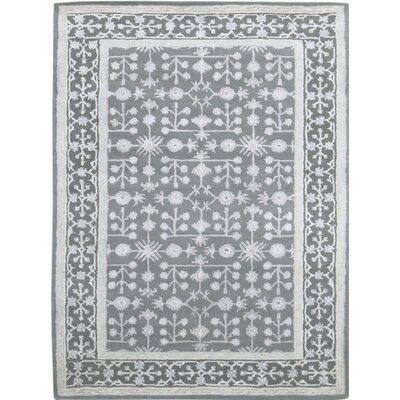 Zaida Hand-Tufted Water Blue Area Rug Rug Size: 76 x 96