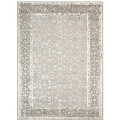 Urban Hand-Tufted Beige/Gray Area Rug Rug Size: 76 x 96