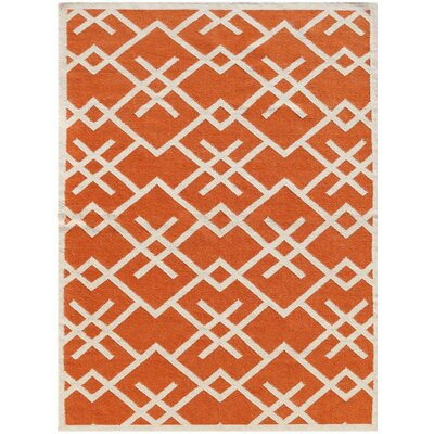 Welbornn Orange Area Rug Rug Size: 5 x 8