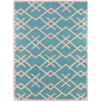 Zara Blue Area Rug Rug Size: 3 x 5
