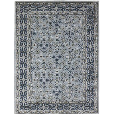 Paxtonville Hand-Tufted Handmade Blue Area Rug Rug Size: 8 x 11