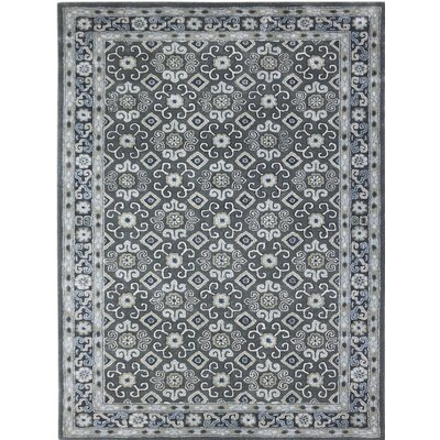 Castille Hand-Tufted Gray Area Rug Rug Size: 76 x 96