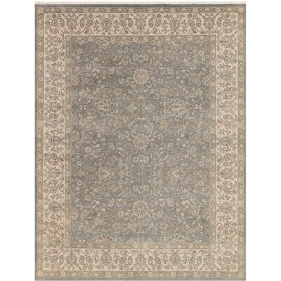 Zella Hand-Knotted Silver Area Rug Rug Size: Rectangle 9 x 12