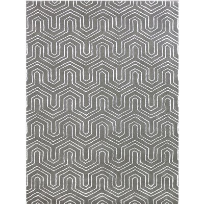 City Hand-Tufted Beige Area Rug Rug Size: 86 x 116