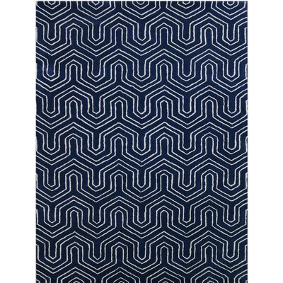 City Hand-Tufted Blue Area Rug Rug Size: 86 x 116