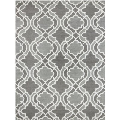 Glow Hand-Tufted Gray Area Rug Rug Size: 5 x 8