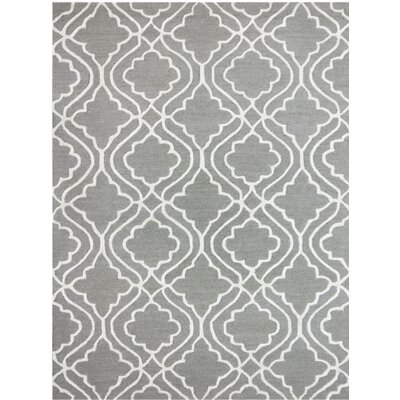Collins Hand-Tufted Platinum Area Rug Rug Size: 2 x 3
