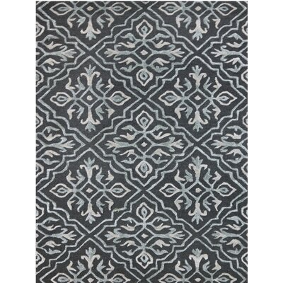 Glow Hand-Tufted Black Area Rug Rug Size: 5 x 8