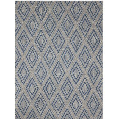 Dwell Hand-Tufted Gray Area Rug Rug Size: 5 x 8