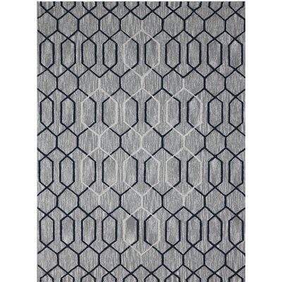 Dwell Hand-Tufted Gray/Beige Area Rug Rug Size: 5 x 8