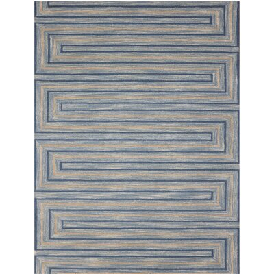 Carcassonne Hand-Tufted Blue Area Rug Rug Size: 5 x 8