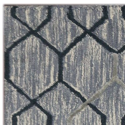 Dwell Hand-Tufted Silver/Gray Area Rug Rug Size: 5 x 8