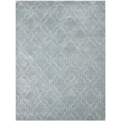 City Hand-Tufted Blue/Gray Area Rug Rug Size: 5 x 8