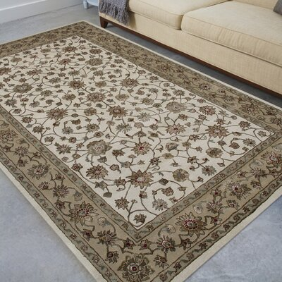 Cloverdales Ivory/Beige Area Rug Rug Size: Rectangle 2' x 3'