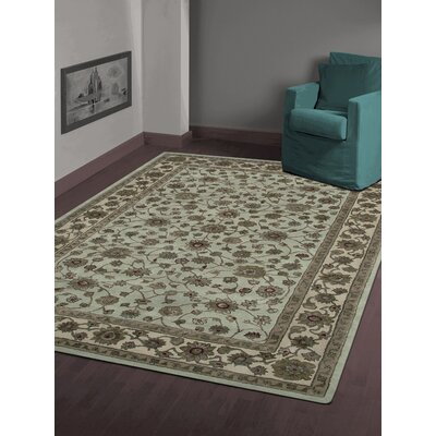 Cloverdales Light Blue/Ivory Area Rug Rug Size: Rectangle 5'6