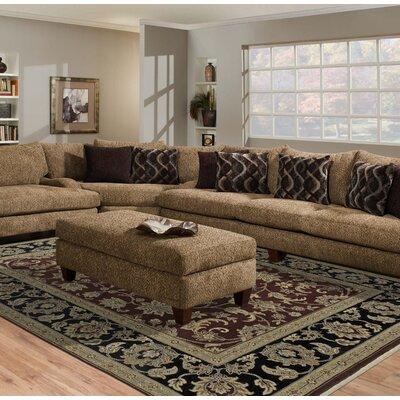 Luxor Red/Ebony Manzala Area Rug Rug Size: Round 6