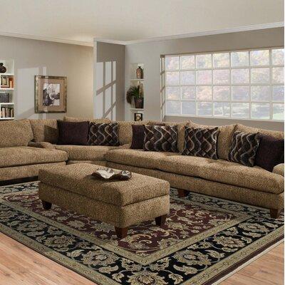Luxor Red/Ebony Manzala Area Rug Rug Size: 8 x 10