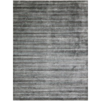 Adamsburg Hand-Woven Silver/Gray Area Rug Rug Size: Rectangle 8 x 10