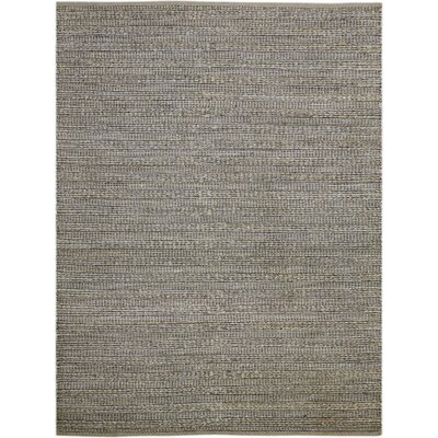 Williamson Hand-Woven Dark Gray Area Rug Rug Size: 5 x 8