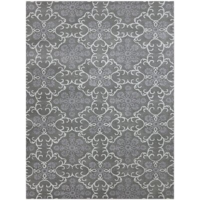 Kaydence Hand-Tufted Dove Gray Area Rug Rug Size: 76 x 96