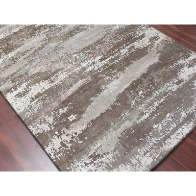 Blanchard Hand-Knotted Brown Area Rug Rug Size: Rectangle 9 x 12