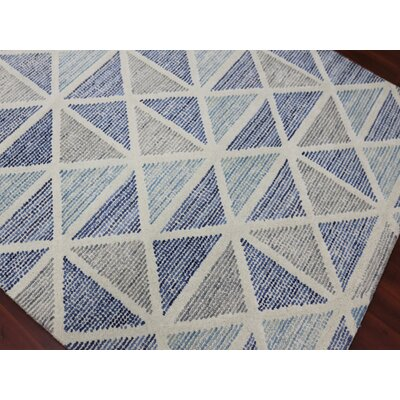 Heiman Hand-Tufted Blue Area Rug Rug Size: 2 x 3