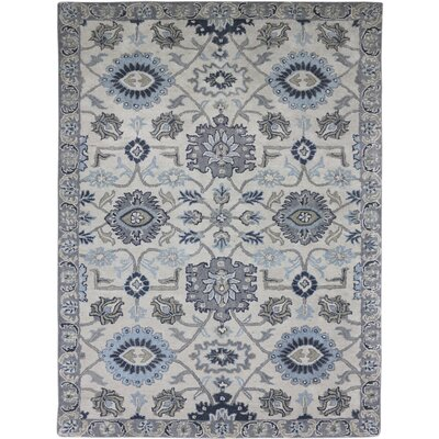 Bessie Hand-Tufted Ivory Area Rug Rug Size: Rectangle 76 x 96
