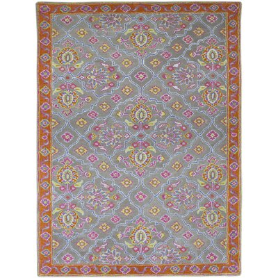 Bessie Hand-Tufted Silver Area Rug Rug Size: Rectangle 76 x 96
