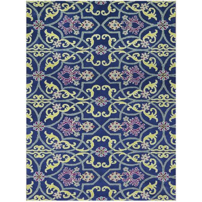 Bessie Hand-Tufted Blueberry Area Rug Rug Size: 5 x 8