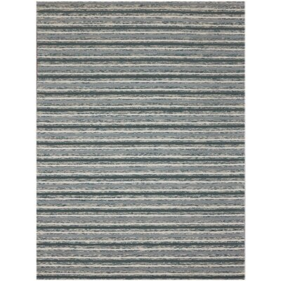 Brookes Hand-Tufted Steel Blue Area Rug Rug Size: 76 x 96
