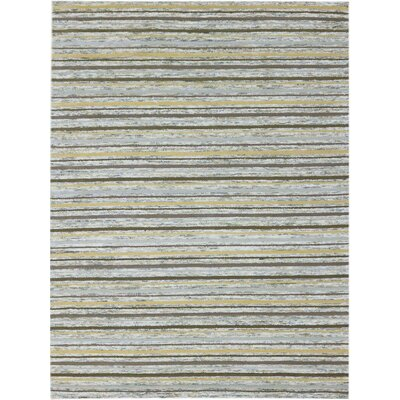 Brookes Hand-Tufted Gold Area Rug Rug Size: 76 x 96
