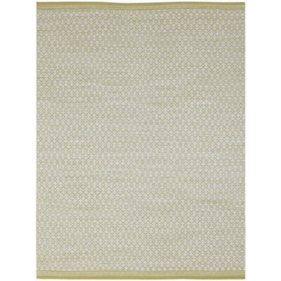 Willing Modern Hand-Woven Yellow Area Rug Rug Size: 5 x 8