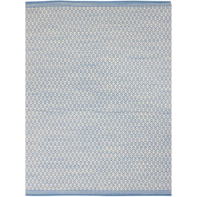 Latimer Modern Hand-Woven Blue Area Rug Rug Size: Rectangle 5 x 8