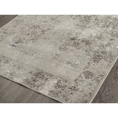 Cadence Transitional Gray Area Rug Rug Size: 5 3 x 7 7
