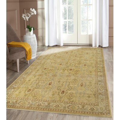 Blackwell Gold Area Rug Rug Size: 2 x 3