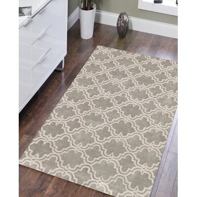 Ladd Trellis Wool Hand-Tufted Silver Area Rug Rug Size: 8 x 10