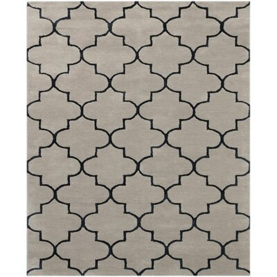 Ladd Trellis Hand-Tufted Beige Area Rug Rug Size: Rectangle 76 x 96