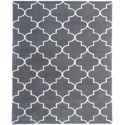 Ladd Trellis Hand-Tufted Charcoal Area Rug Rug Size: Rectangle 5 x 8