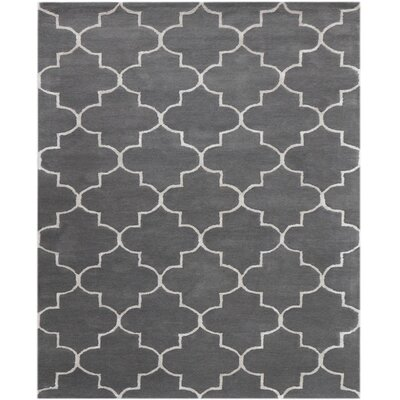 Ladd Hand-Tufted Gray Area Rug Rug Size: Rectangle 5 x 8