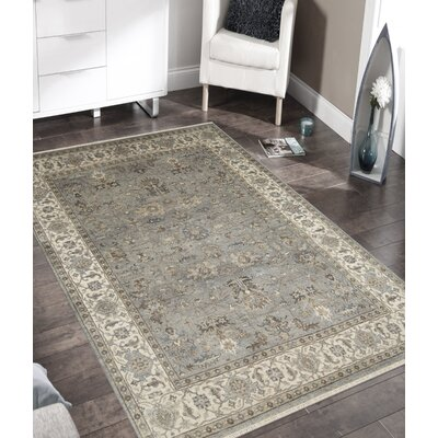 Lidia�dia Hand-Woven Wool Gray Area Rug Rug Size: Rectangle 6 x 9