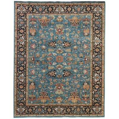 Lidia�dia Hand-Woven Wool Turquoise Area Rug Rug Size: Rectangle 9 x 12