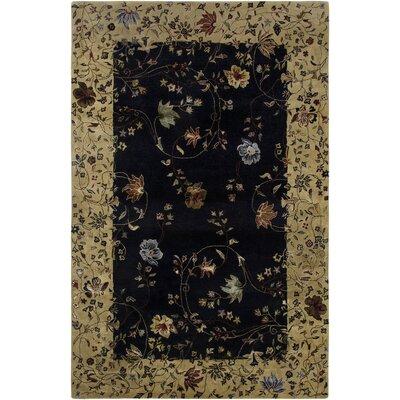 Sherill Ebony Area Rug Rug Size: 56 x 86