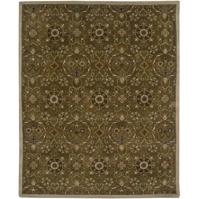 Cedar Hand-Tufted Dark Brown Area Rug Rug Size: 86 x 116
