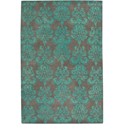 Brightwaters Hand-Tufted Cinder Area Rug Rug Size: 56 x 86
